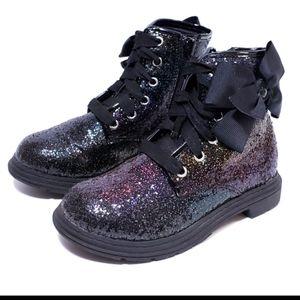 Jojo Siwa Rainbow Glitter Sparkle Combat Boot Sz 5